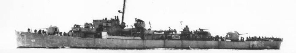 DE-413 USS Samuel B. Roberts at sea